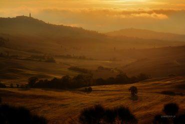 Toskański wschód słońca