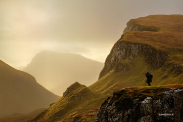 Fotograf w górach Quairang