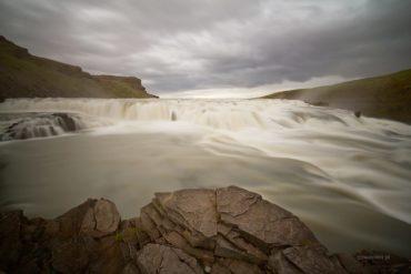 Gulfoss w deszczu, Islandia