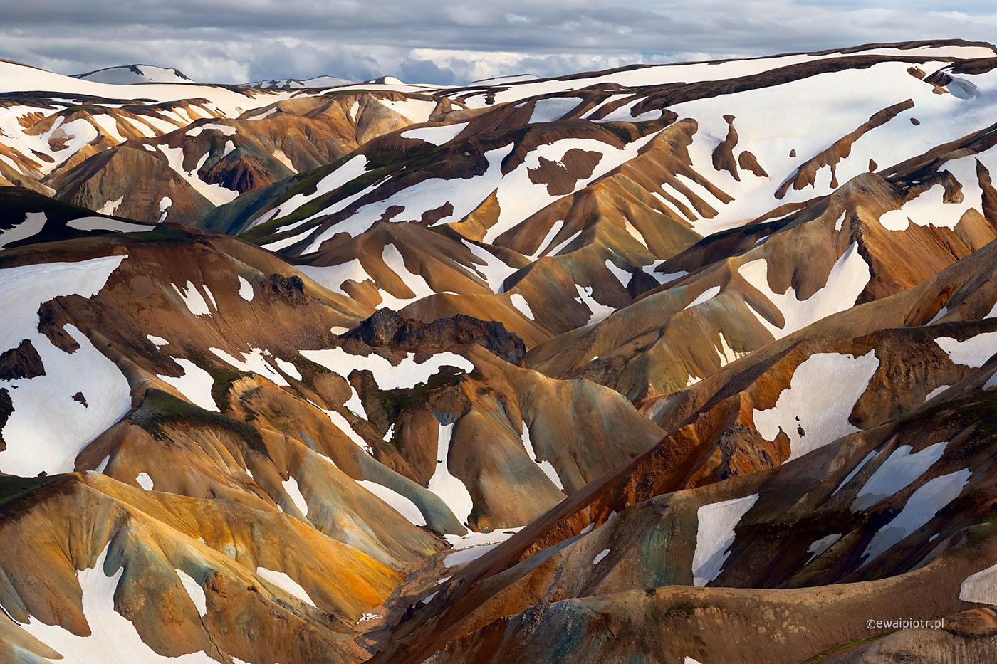 Kolorowe wzgórza Landmannalaugar, Islandia fotowyprawa
