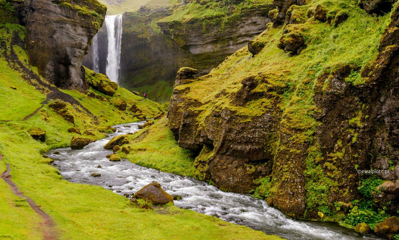 Wodospad Kvernufoss, Islandia, wyprawa foto
