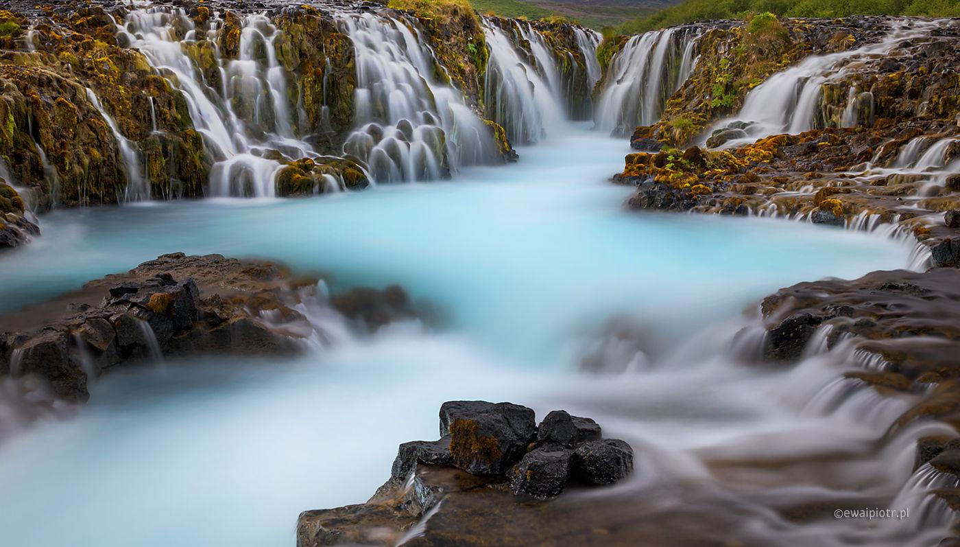 Wodospad Bruarfoss, Islandia fotowyprawa