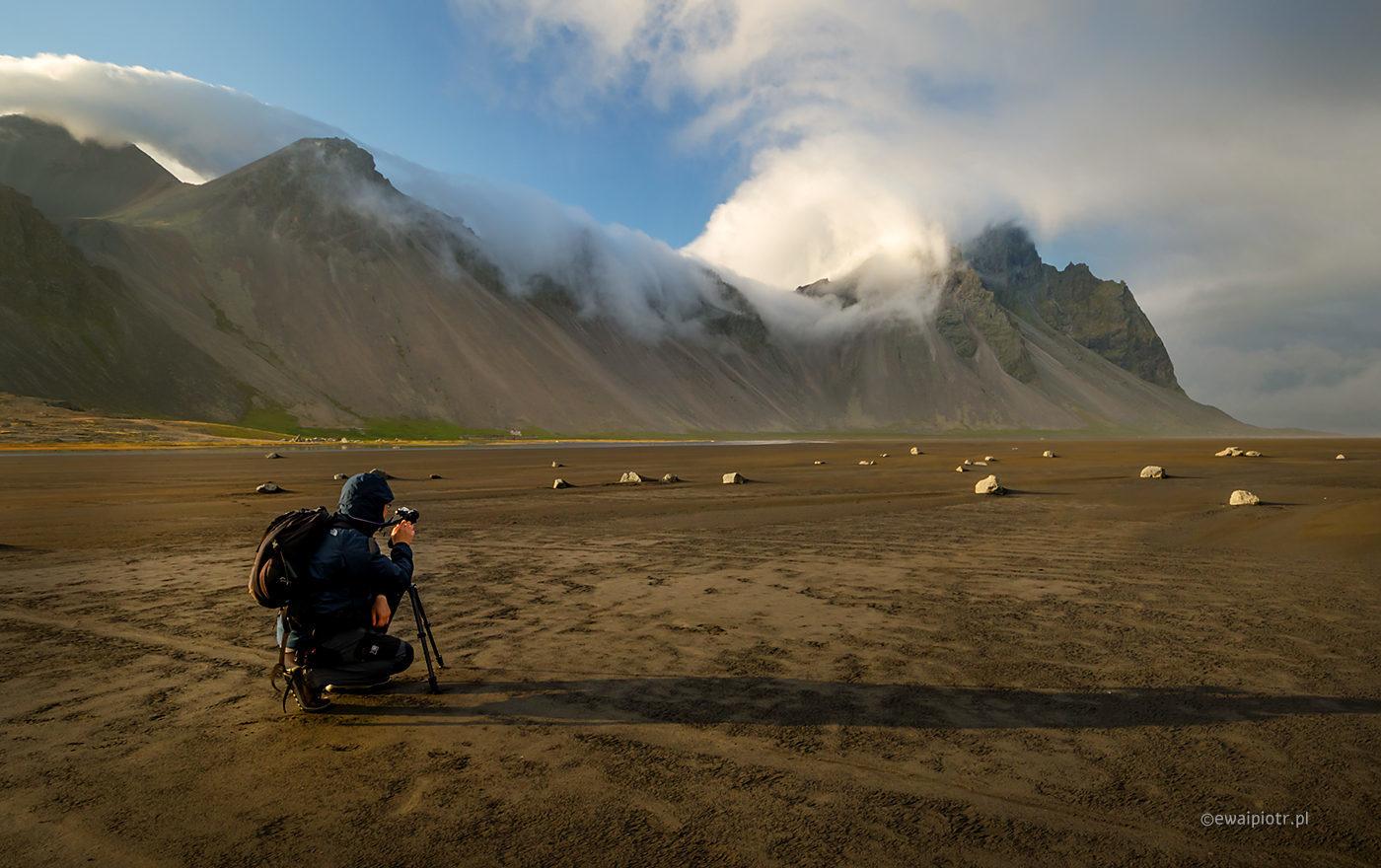 Plaża Vestrahorn, Islandia foto wyprawa