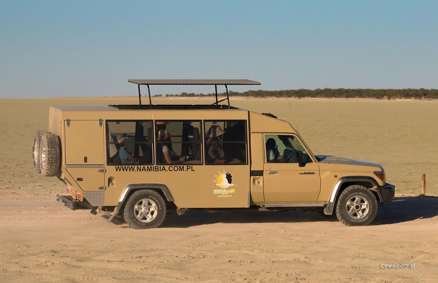 Nasz transport po Namibii