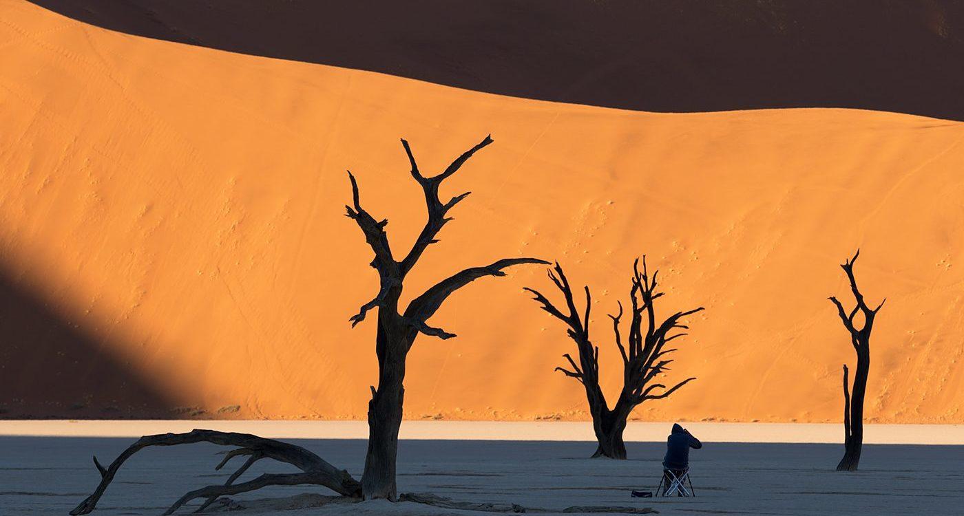 Deadvlei martwe drzewa, pustynia Namibia, fotowyprawa