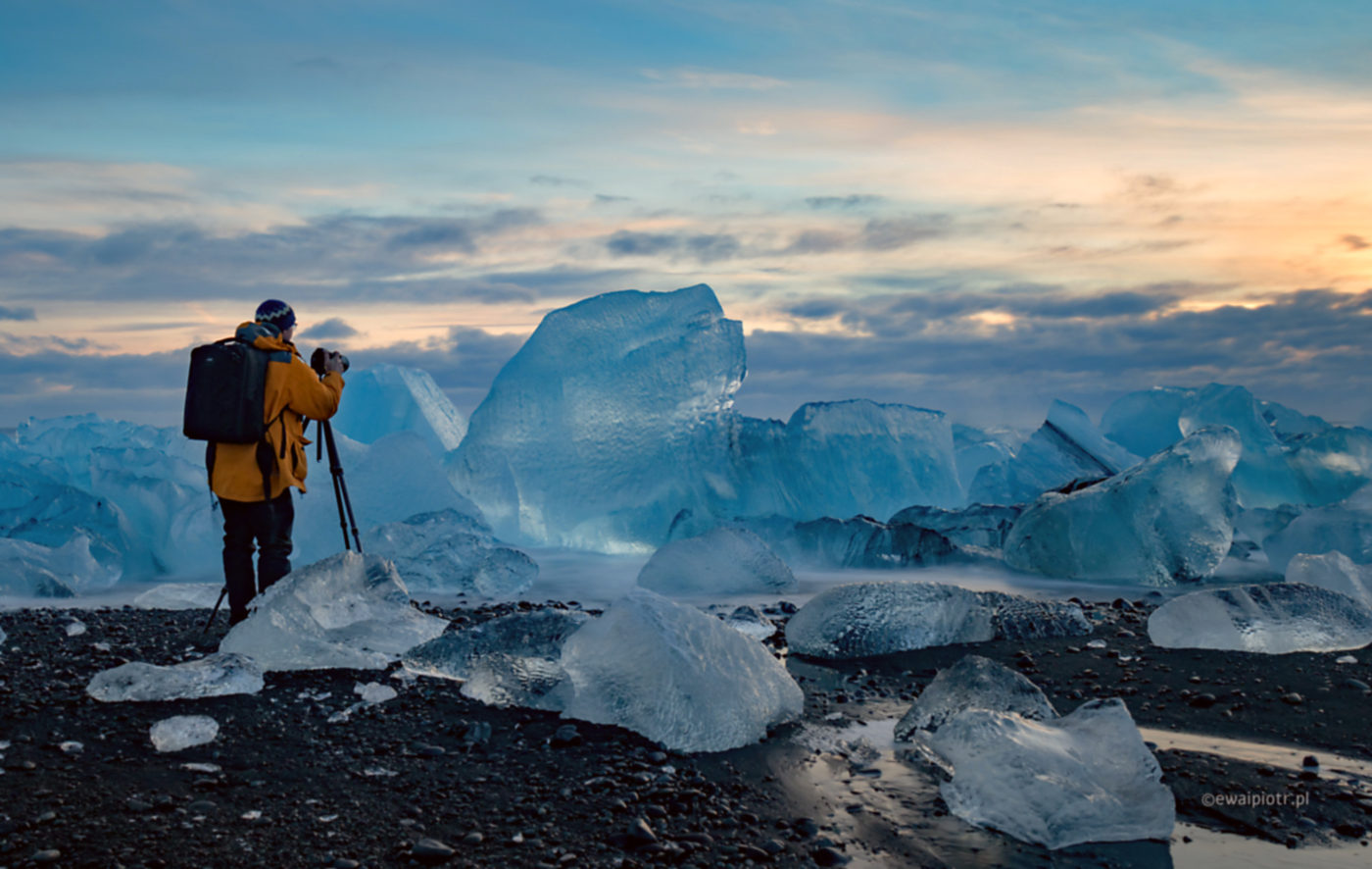 Wschód na Diamentowej Plaży, Islandia, wyprawa fotograficzna
