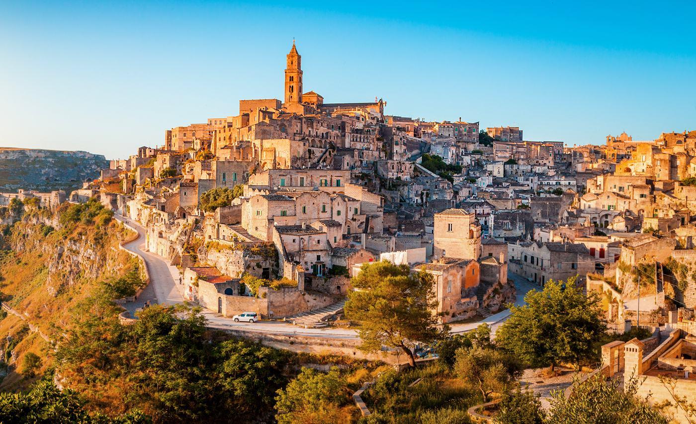 Sassi di Matera o wschodzie, Basilicata, Włochy, warsztaty fotograficzne