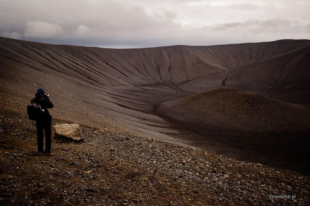 Na wulkanie Hverfjall, Islandia, warsztaty fotograficzne