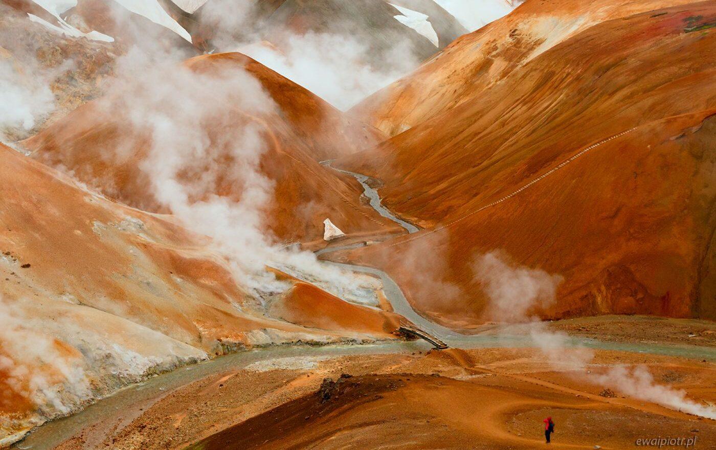Dymiące wzgórza Kerlingerfjoll, Islandia, warsztaty foto