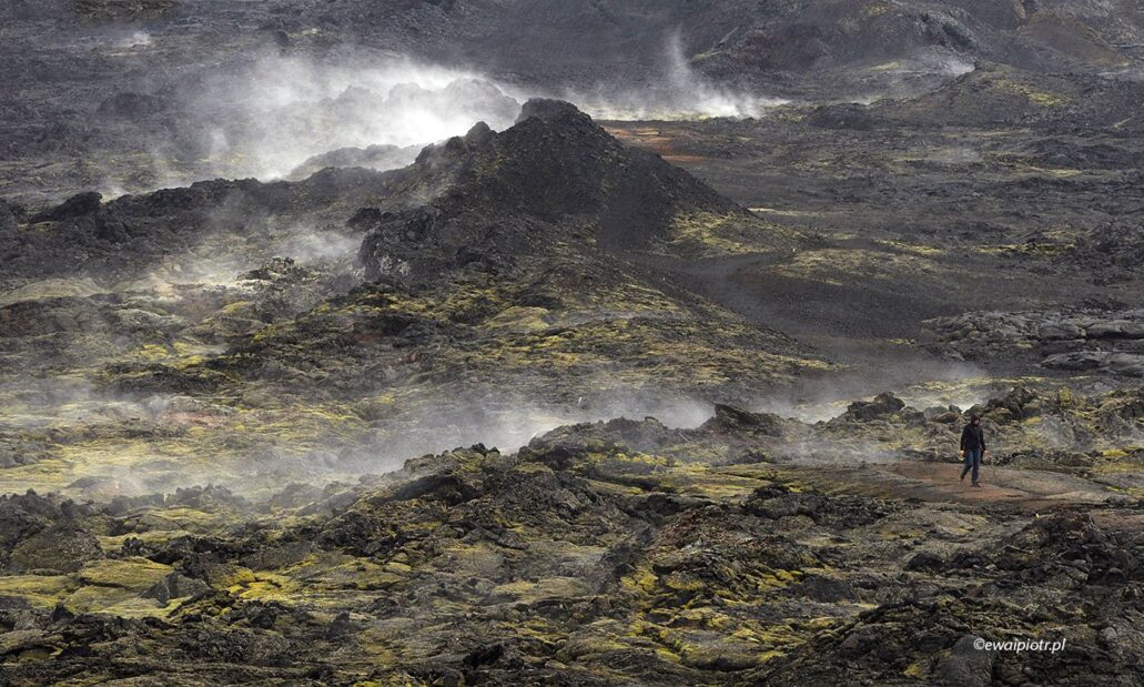 Dymiące pole lawy, Islandia, fotoekspedycja