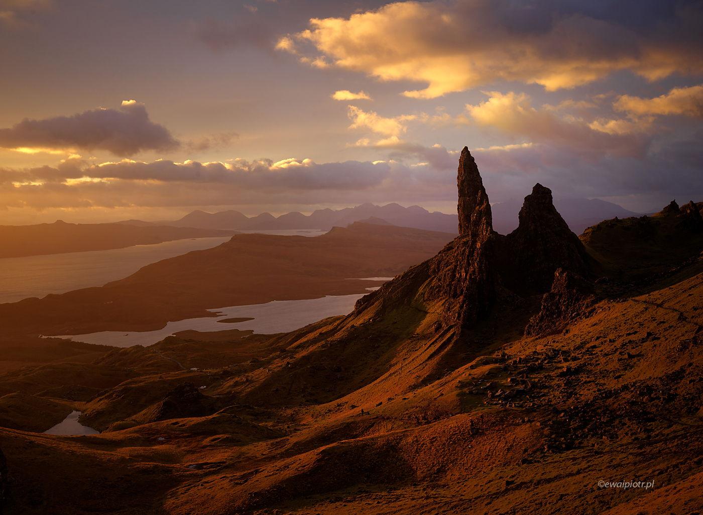 Old Man of Storr o wschodzie, warsztaty fotograficzne, Szkocja, wyspa Skye, fotowyprawa