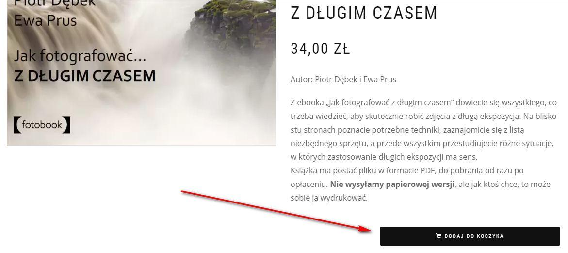 Dodawanie produktu do koszyka - sklep Fotezja.pl