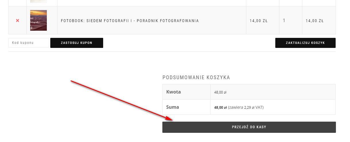 Przejście do kasy, jak kupować w sklepie Fotezja.pl