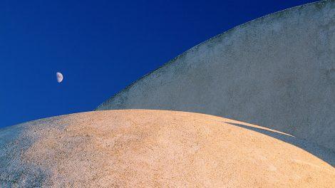 Jak powstaje fotografia - łuk kopuły i Księżyc