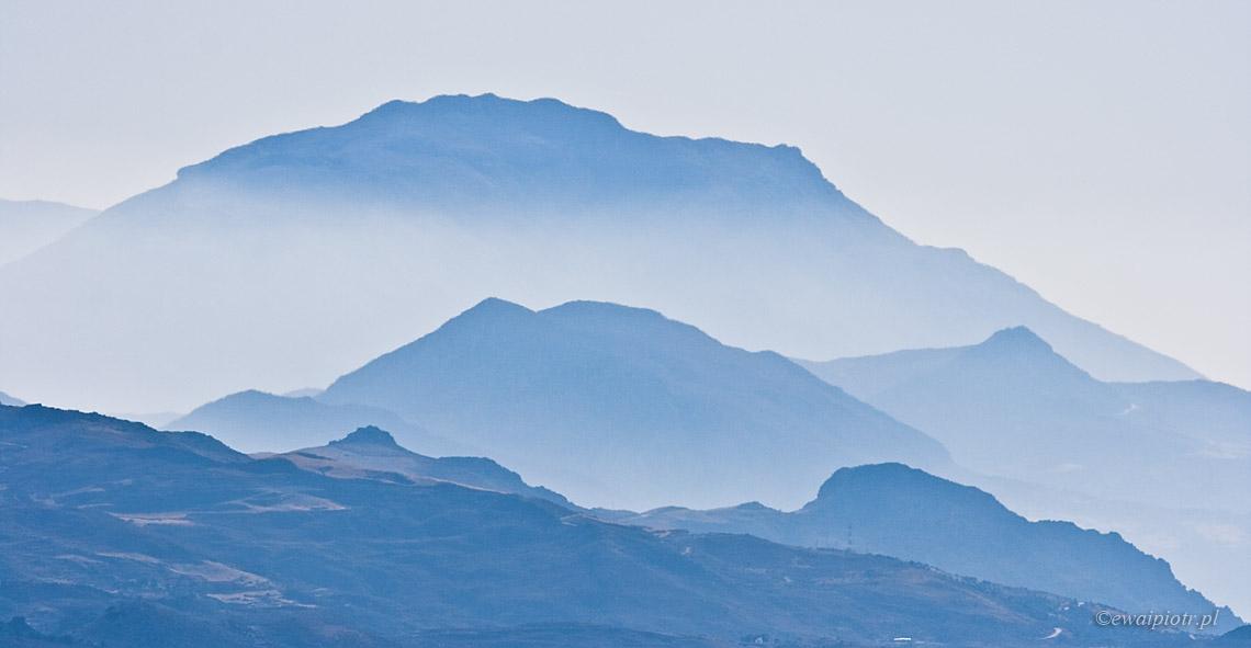 aparat fotograficzny do samolotu, Góry Krety