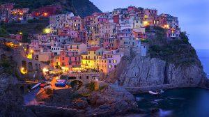 Vernazza o zmierzchu, Cinque Terre