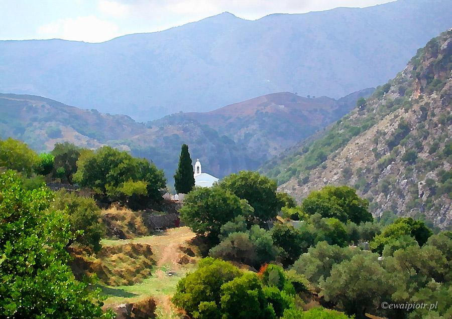 Argiropoulis, Kreta, zdjęcie w stylu impresji