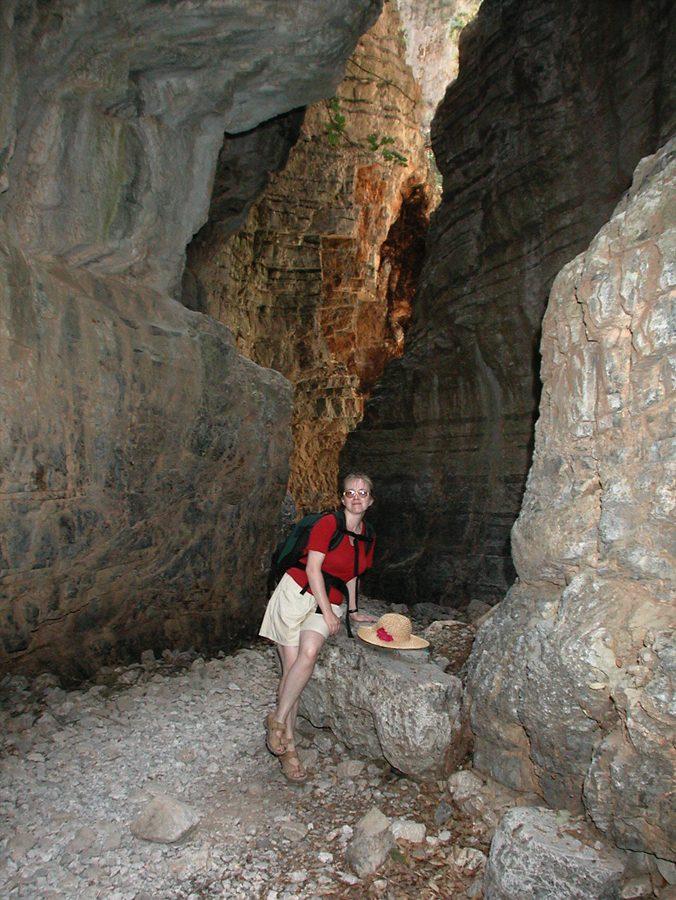W wąwozie Imbros, Kreta