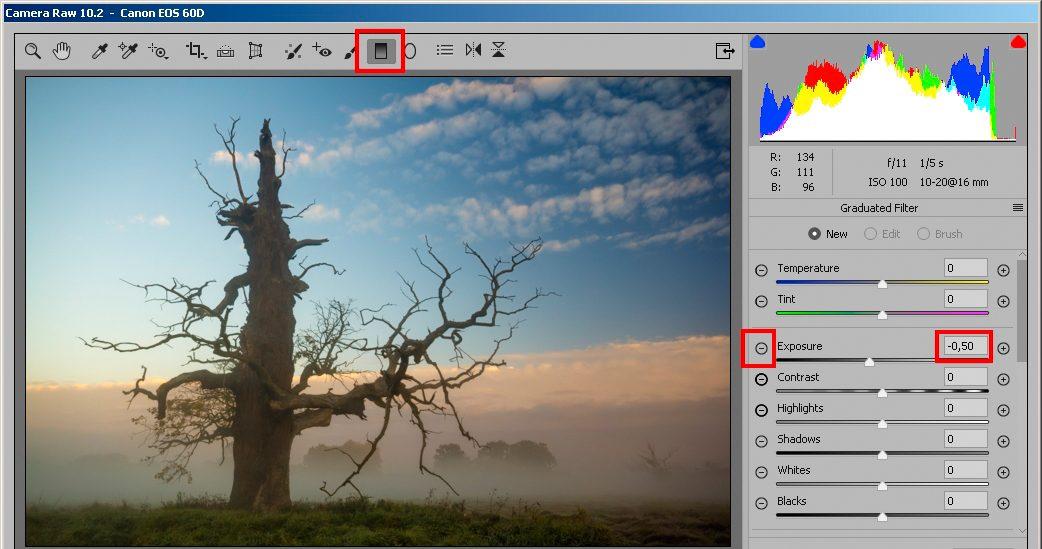 Wywołanie RAW-a w Adobe Camera Raw
