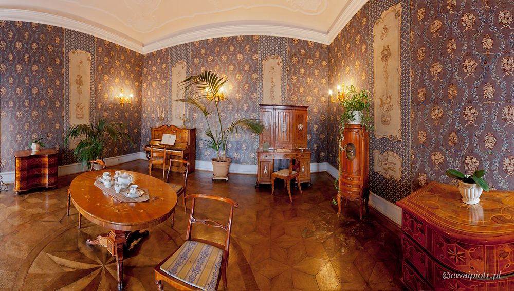 Zamek Książ, panorama we wnętrzu, fotografowanie panoramy