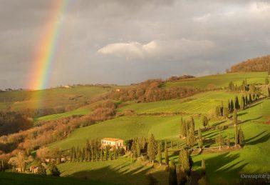 Jak fotografować tęczę, poradnik fotograficzny, Toskania