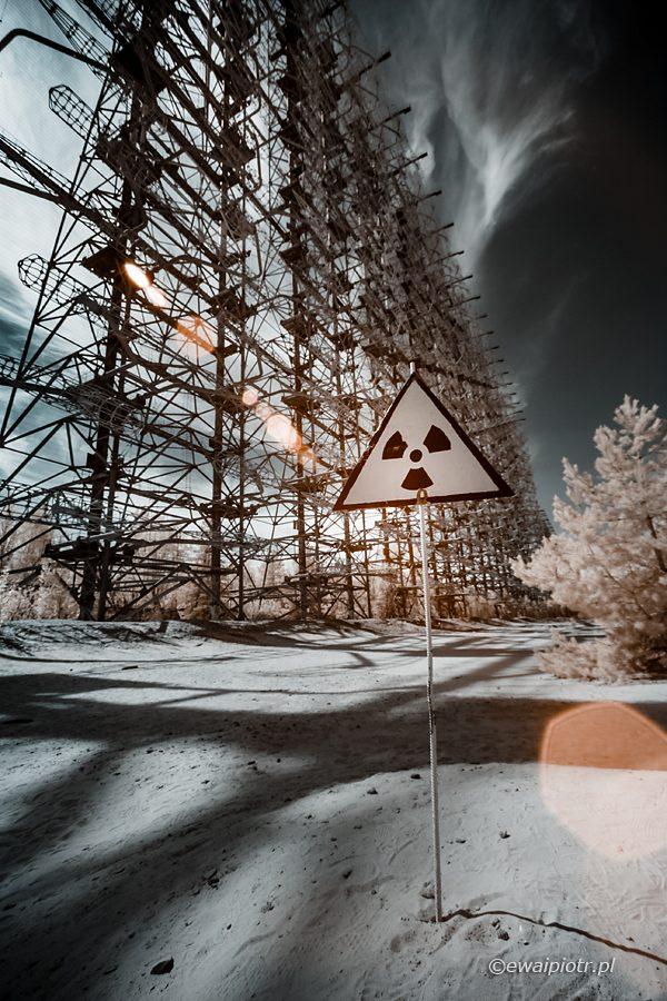 Radar pozahoryzontalny Duga, podczerwień, radiacja, Strefa, Prypeć
