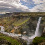 Najładniejsze wodospady Islandii - Haifoss