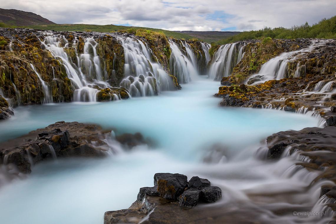 Najładniejsze wodospady Islandii - Bruarfoss