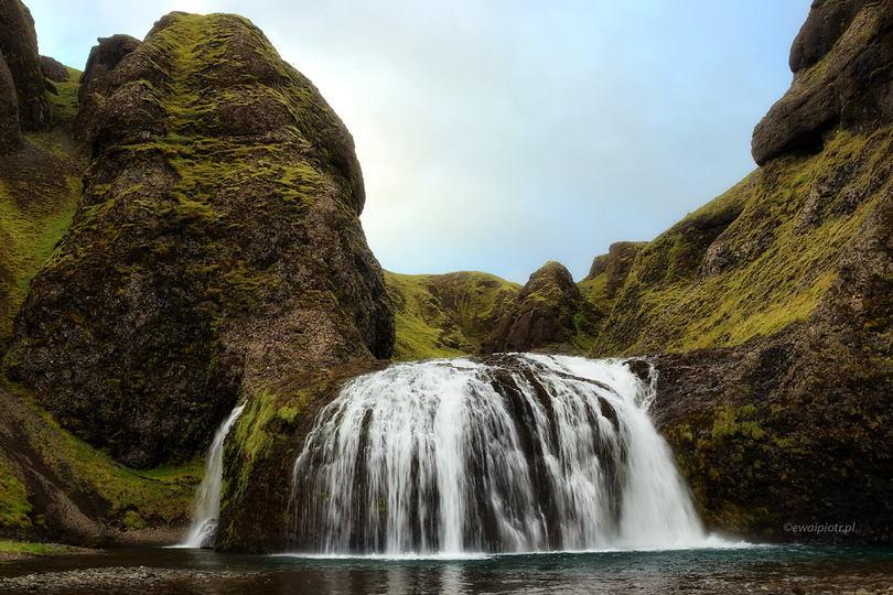 Wodospad Stjórnarfoss, Islandia