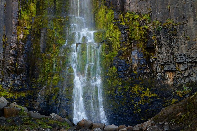 Studlafoss i bazaltowe kolumny, Islandia, najpiękniejsze wodospady