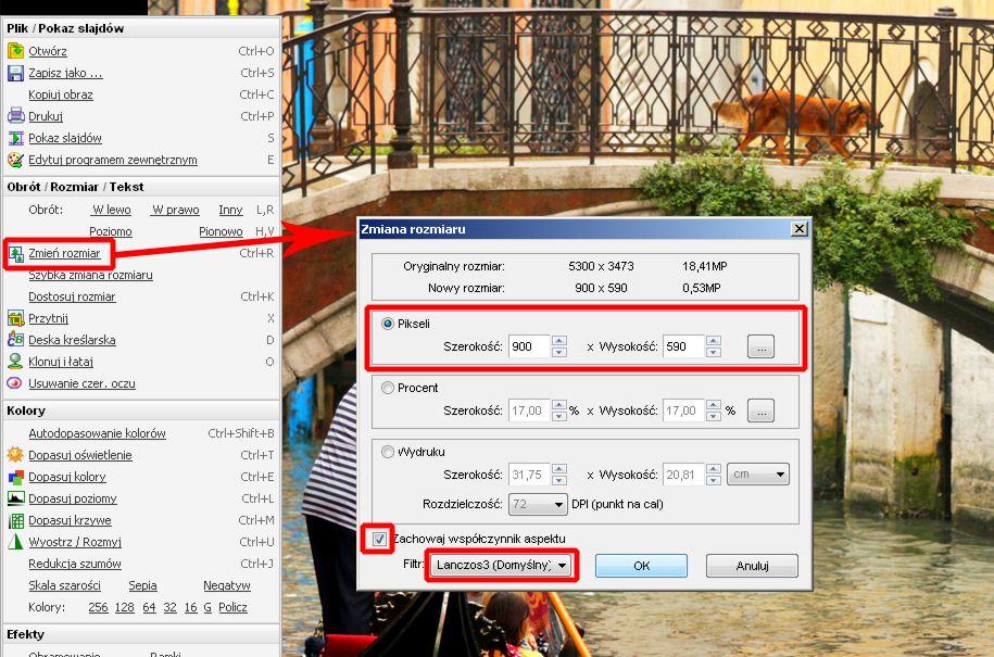 jak zmniejszyć zdjęcie do internetu