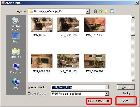Jak zapisać zdjęcie do internetu