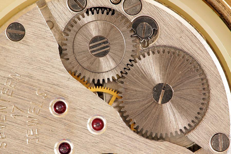 wnętrze zegarka ręcznego, makro w skali 1:1, poradnik fotografii makro