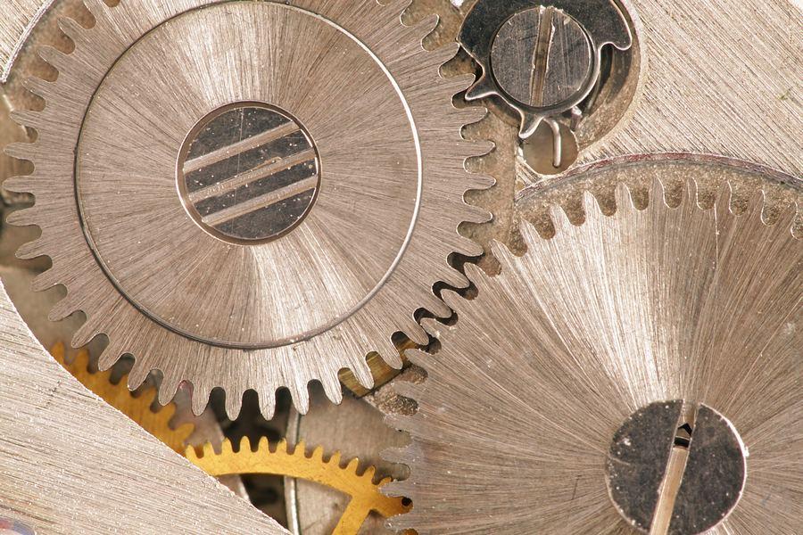 Detal zegarka, makro, pierścienie pośrednie, sprzęt do makrofotografii
