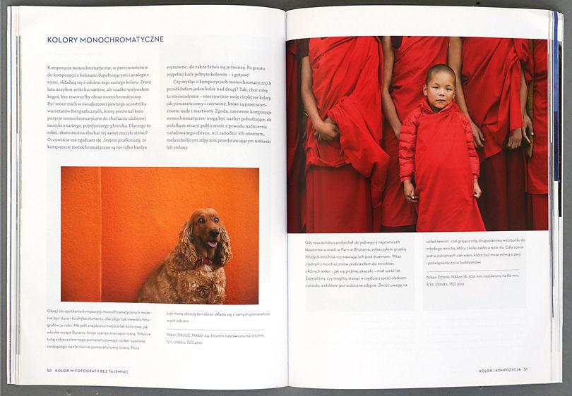Bryan Peterson, Kolor bez tajemnic, barwy monochromatyczne, recenzja książki