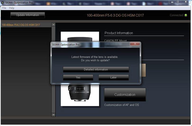 Sigma USB Dock - jak wgrać oprogramownie obiektywu, aktualizacja firmware'u