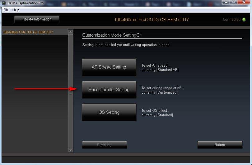 Sigma USB Dock - customization, jak ustawić zakres ostrości, poradnik