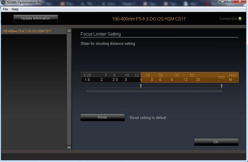 Sigma USB Dock - customization, regulacja zakresu ostrzenia, krok po kroku