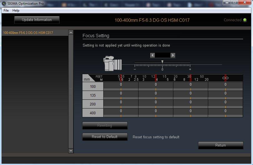 Sigma USB Dock - kalibracja jak to zrobić, frontfokus i backfokus