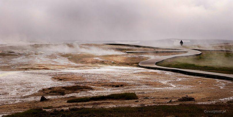 Wędrowie wśród dymów, kompozycja zdjęcia, poradnik, Islandia