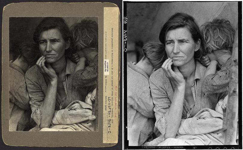Dorothea Lange - Migrant Mother, manipulacje, prawda w fotografii