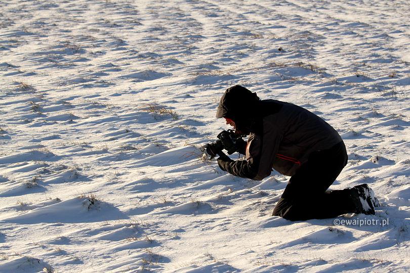 Ubranie do fotografowania w zimie