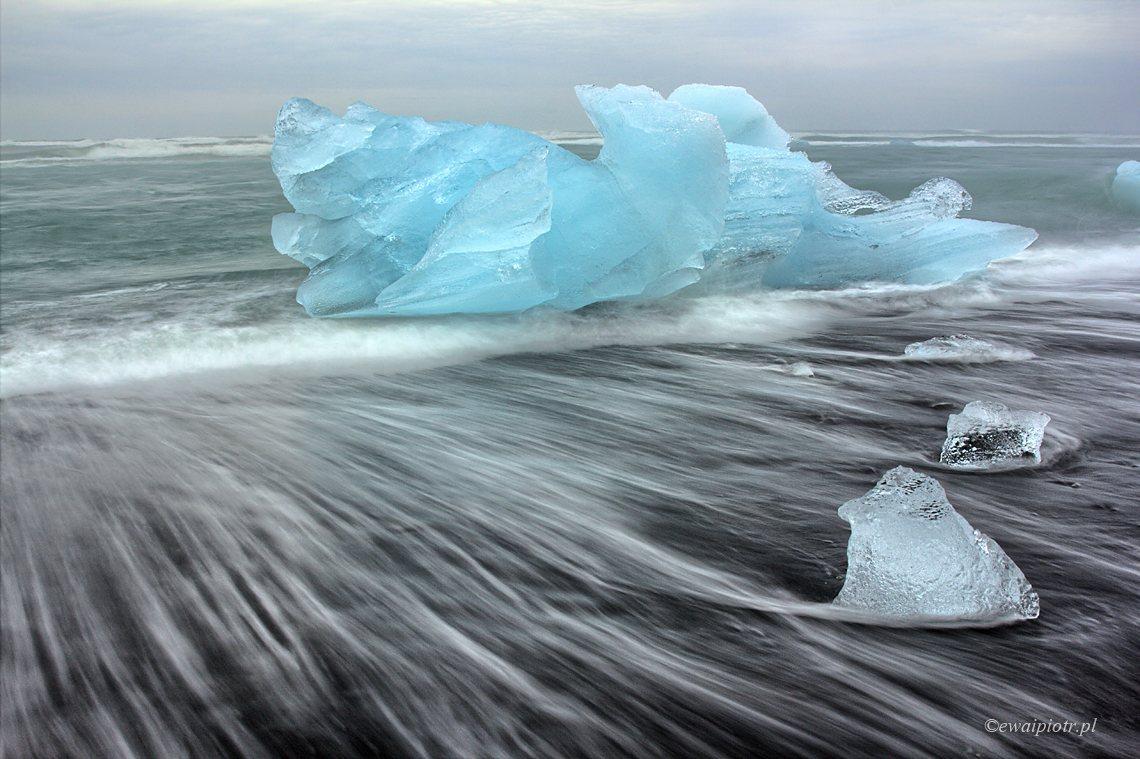 Lodowcowa laguna, Jokulsarlon, Islandia