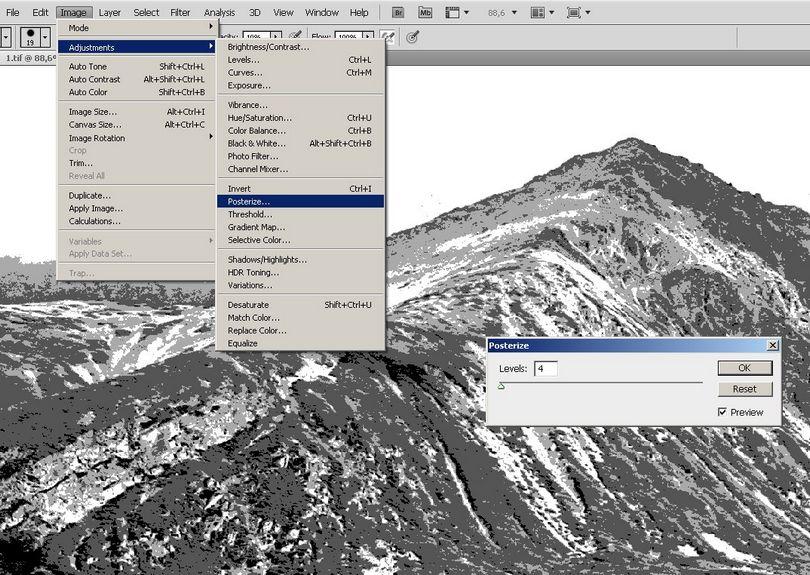 Izohelia - metoda cyfrowa, symulacja izohelii w photoshopie