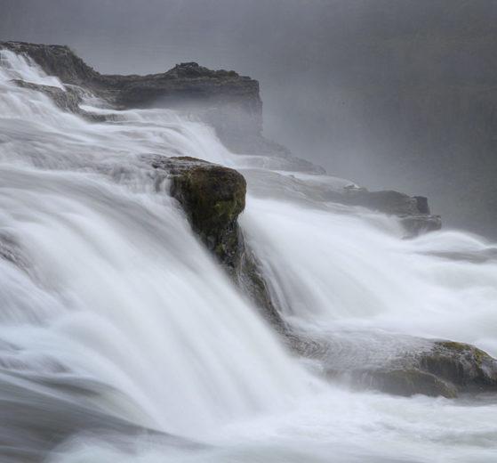 Gullfoss, Islandia, jak działa priorytet czasu