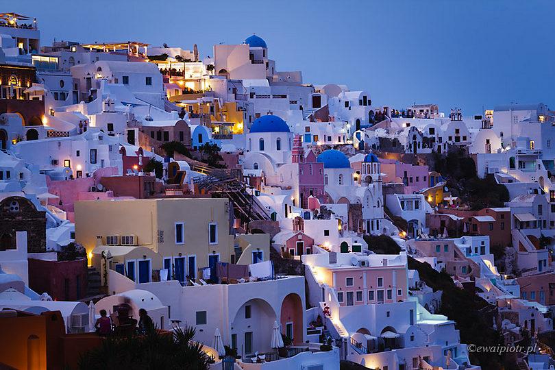 Niebieska godzina na Santorini, jak długo trwa niebieska godzina