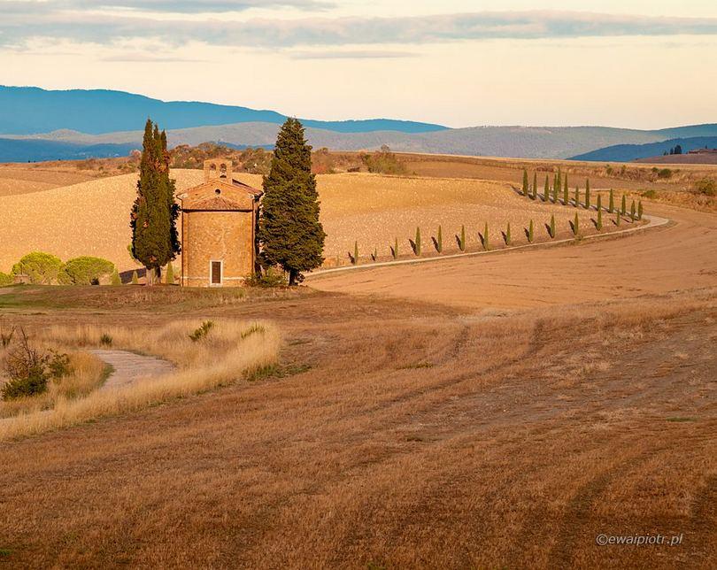 Kapliczka Vitaleta, Toskania, co fotografować w Toskanii