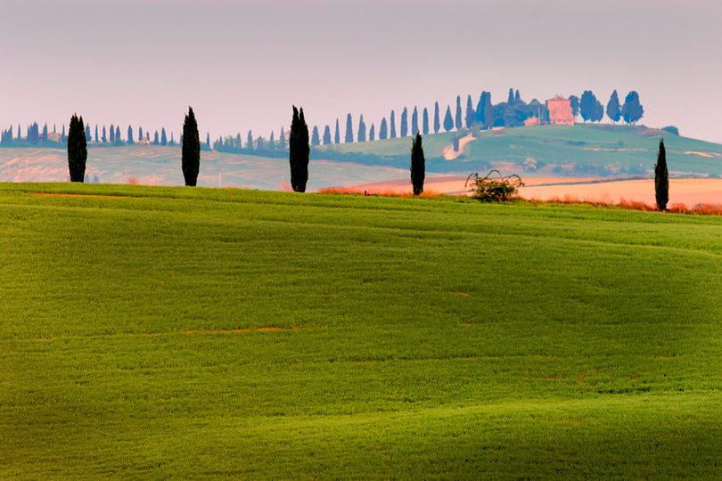 Krajobraz Toskanii na 400 mm, jaki obiektyw do Toskanii, warsztaty fotograficzne