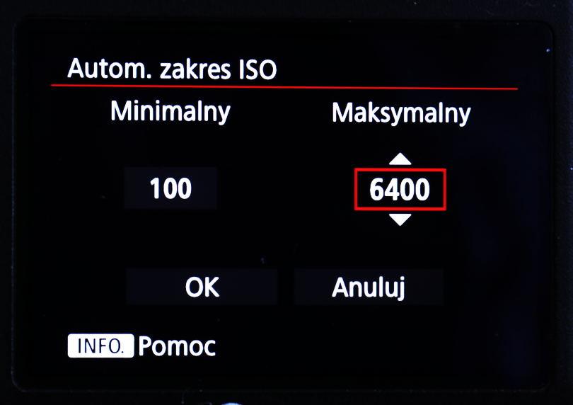 Maksymalna wartość ISO, jak korzystać z funkcji Auto ISO