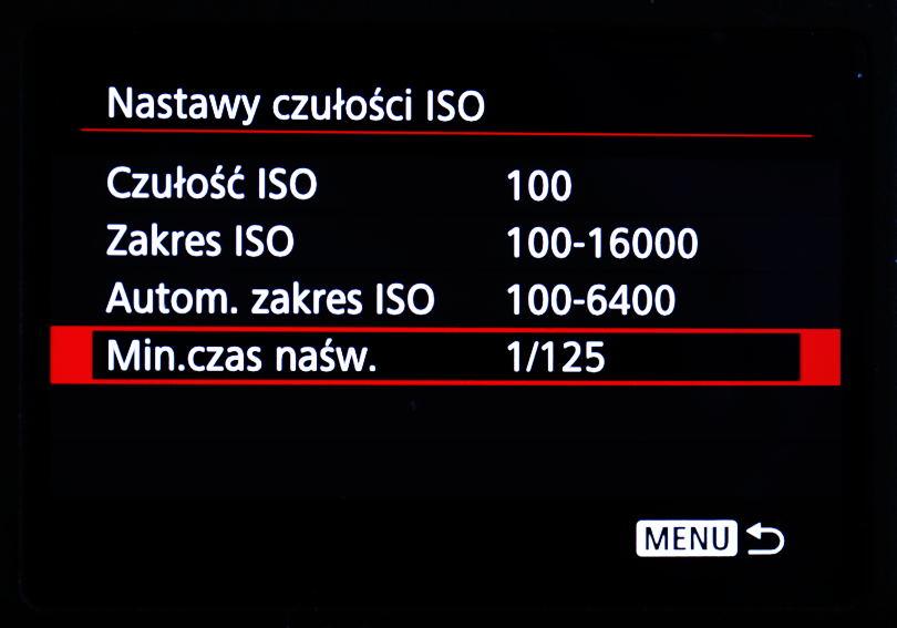 Minimalny czas naświetlania, jak korzystać z Auto ISO w trybie M, poradnik